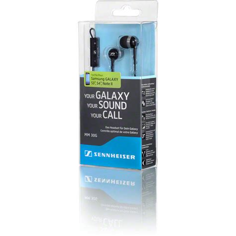 Sennheiser Earphone Mm 30g sennheiser mm 30g in ear headset for samsung galaxy devices stereo sound noise attenuation