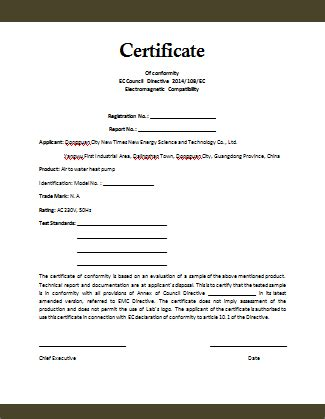 statement of conformity template conformity certificate template microsoft word templates