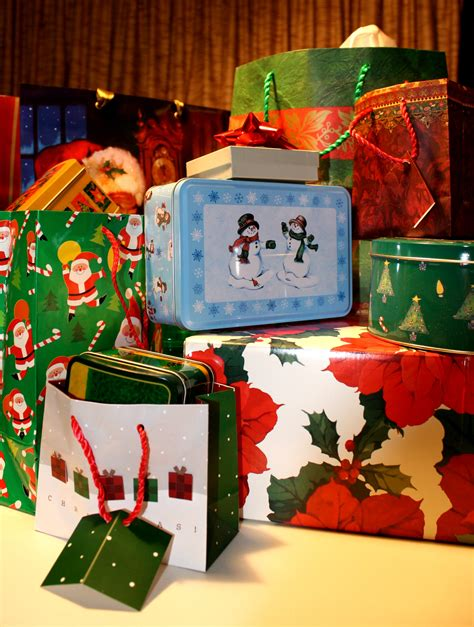 christmas gift packages picture free photograph photos