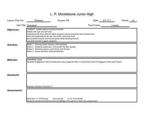 Lesson Plan Template For Teachers lesson plans for teachers pictures to pin on