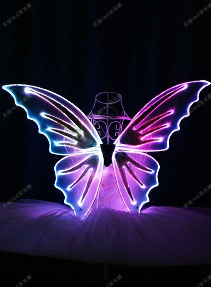 Led Light Up Fiber Optic Butterfly Wings Light Up Wings