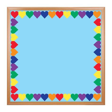 colored hearts colored hearts border