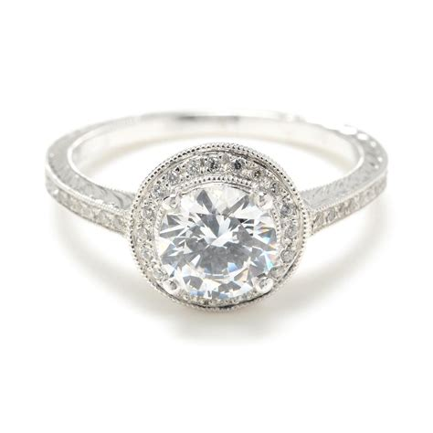 Ring With Diamonds Around It by Engagement Ring Www Imgkid The Image
