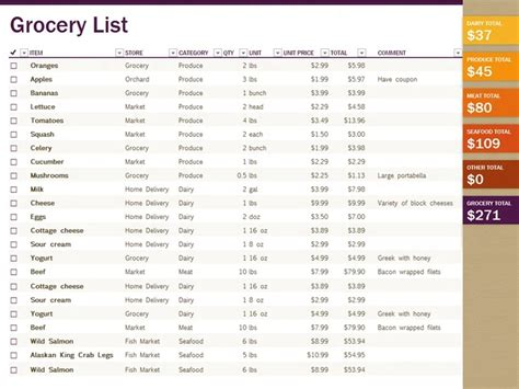 grocery price list template grocery list maker with prices grocery list template