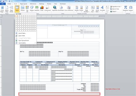 microsoft word template the dynamics gp blogster how to add a quot terms and