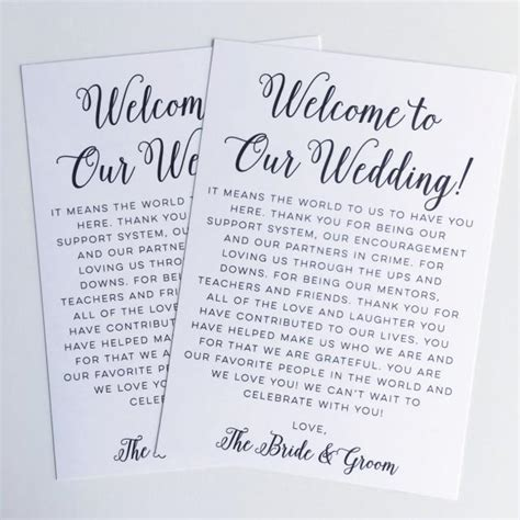 Printable Wedding Welcome Letter Instant Download Destination Wedding Welcome Bag Card Thank Welcome Bag Letter Template
