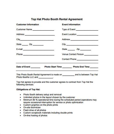 booth rental agreement 6 free documents download in pdf