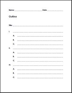 printable writing paper for middle school demonstrative speech outline template google search