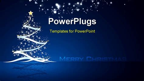 merry powerpoint template powerpoint template tree with and