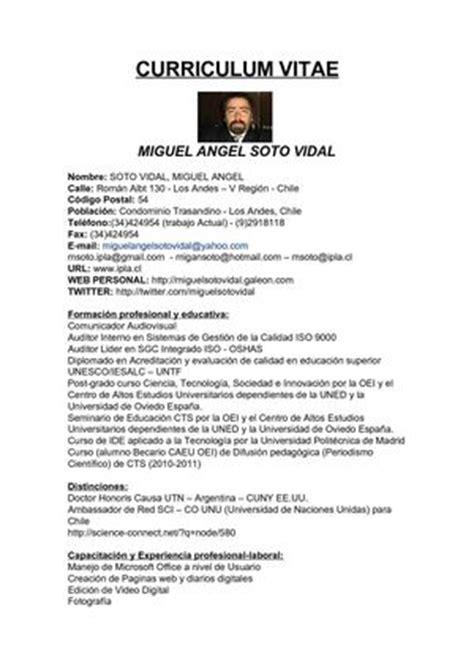 Modelo Curriculum Auditor Interno Calam 233 O Cv Resumen Ejecutivo De Miguel Soto Vidal