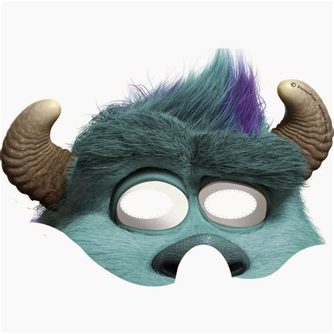 Monsters Inc. Free Printable Masks.   Oh My Fiesta! in english