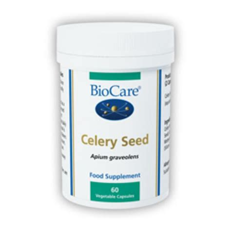 Celery Extract By Sea Quill celery seed in 60vegcaps from biocare