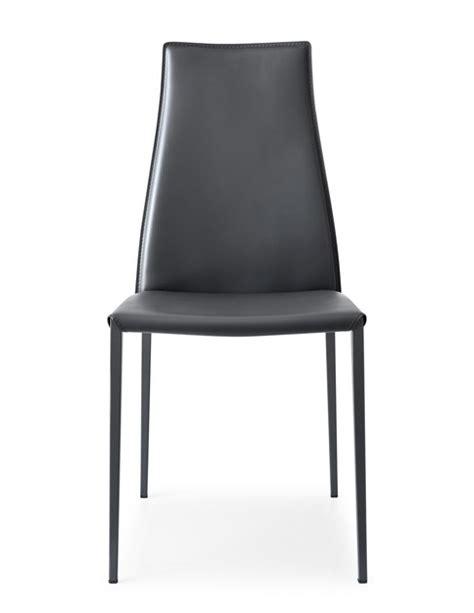 sedie in cuoio calligaris sedia in cuoio rigenerato con schienale alto aida sedia