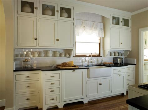 vintage white kitchen cabinets photos hgtv
