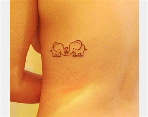 25 cute small elephant tattoos