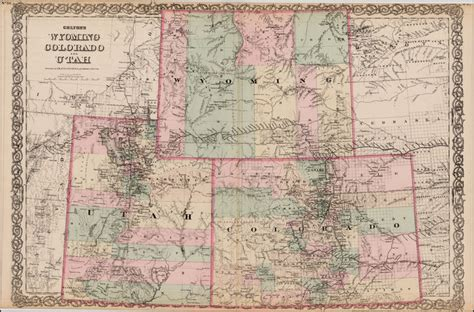 map of wyoming and colorado colton s wyoming colorado and utah barry