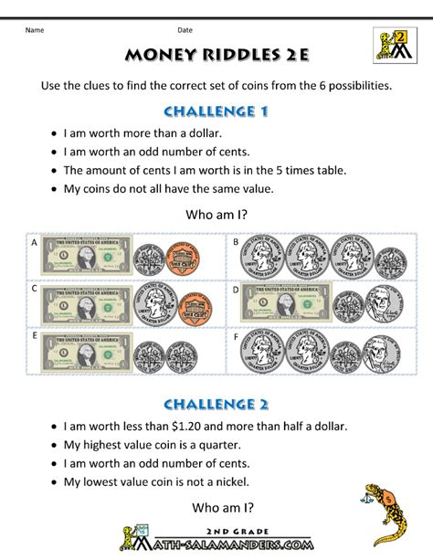 4th grade math money worksheets choice image worksheet