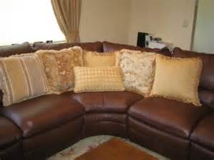 Throw Pillows On Leather Sofa » Home Design