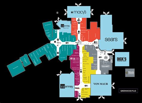 park mall map mall map of greenwood park mall a simon mall greenwood in