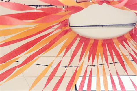 hula hoop streamers ceiling decor click to see how