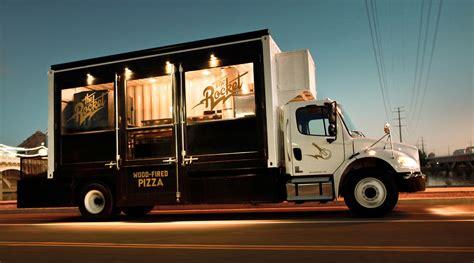 modern food truck design the rocket pizza food truck grits grids