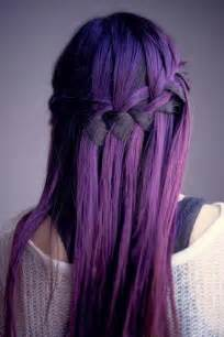 stylish purple hair color idea 2017
