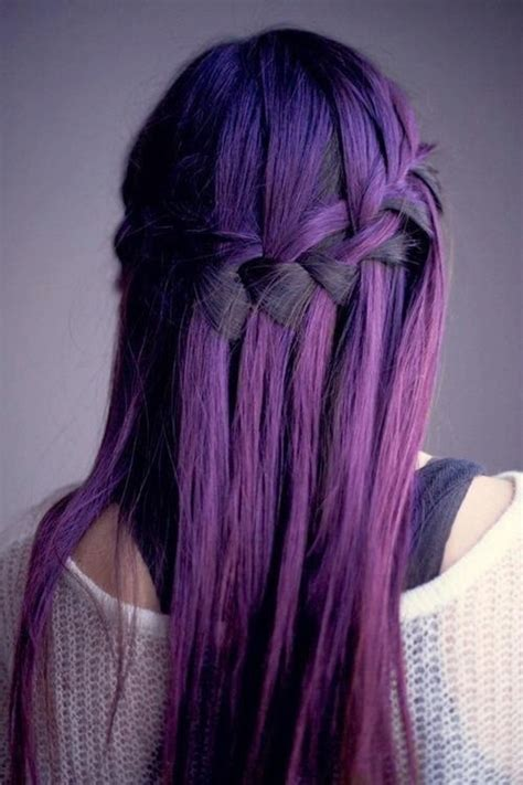 violet hair color stylish purple hair color idea 2018