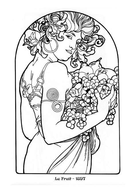 colouring and painting mucha black white08 dvdbash dvdbash