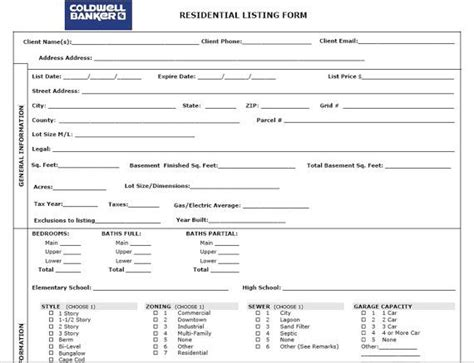 real estate listing sheet template registration century 21 real estate autos post