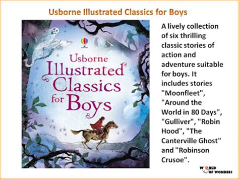 libro illustrated classics for boys world of wonders usborne illustrated classics for boys
