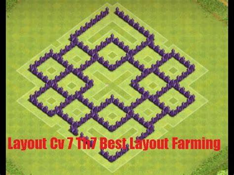 layout cv 7 farming youtube layout cv 7 town hall 7 best layout farming august youtube
