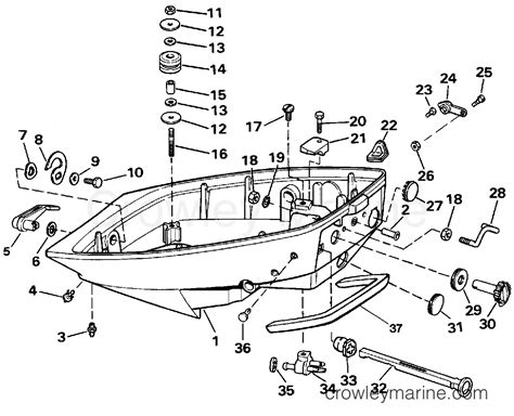 boat manufacturers that use evinrude lower engine cover 1989 evinrude outboards 15 te15rlcec
