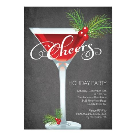 christmas cocktail party invitations snowflake holiday cocktail party invitation