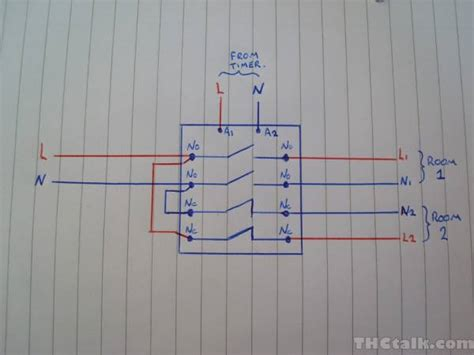 photocell lighting contactor wiring diagram photocell