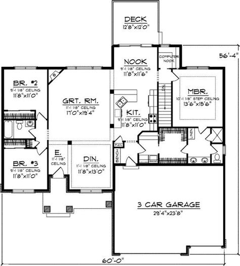 house plans no basement one level house plans with no basement inspirational e level house plans with no