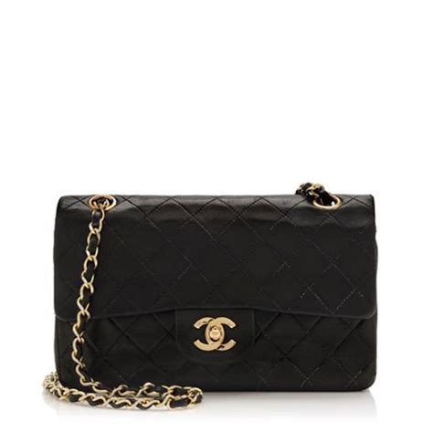 chanel vintage lambskin classic small flap bag