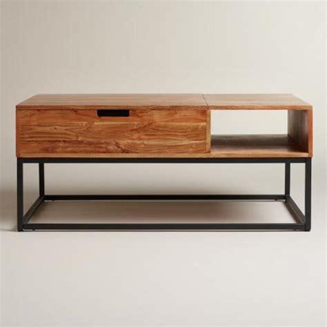 market silas coffee table wood silas storage coffee table market