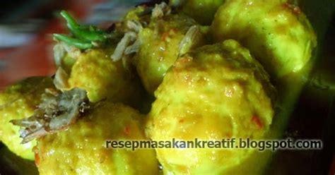 resep telur kuah bumbu kuning kunyit aneka resep masakan