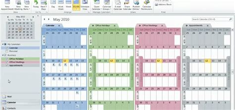 Microsoft Windows Calendar Template