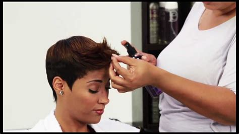 Book Cutting African American Hair | pixie short style using design essentials youtube
