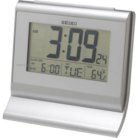 desk alarm clock seiko clocks lcd desk alarm clock qhl047s watch shop com