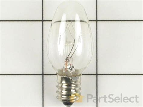 whirlpool dryer light bulb whirlpool 67001316 light bulb 7w partselect