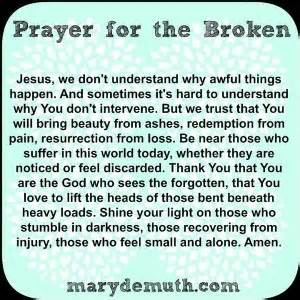 prayer for peace and comfort prayer for the broken a friend of jesus 2013