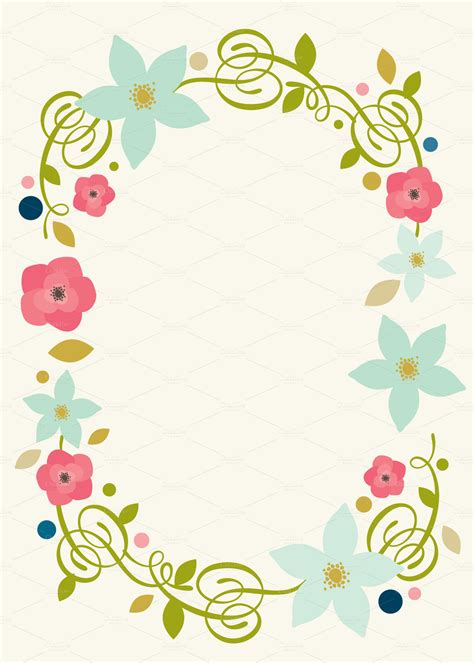 spring floral invite invitation templates on creative market