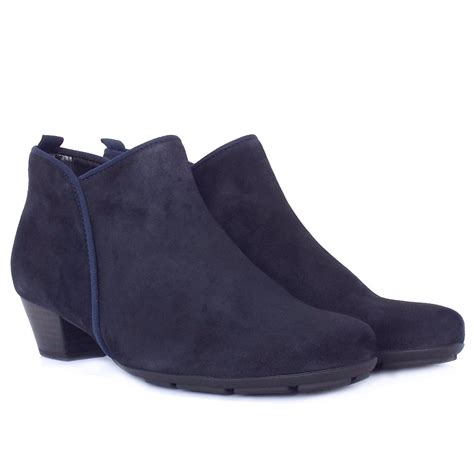gabor ankle boots trudy navy suede ankle boots