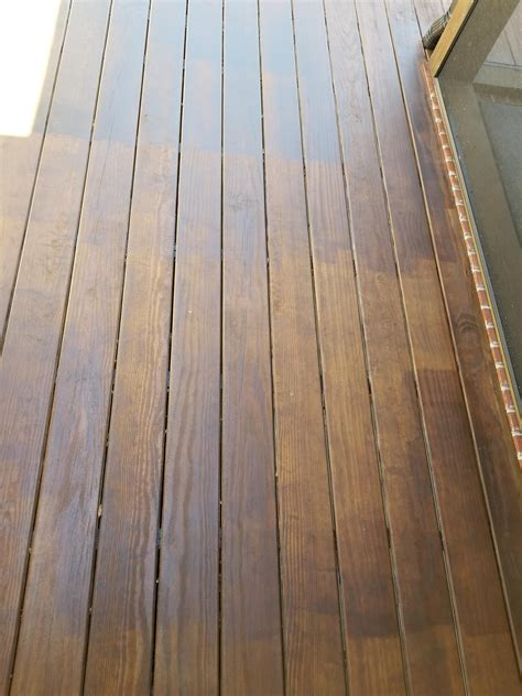 streaking  staining deck stain questions