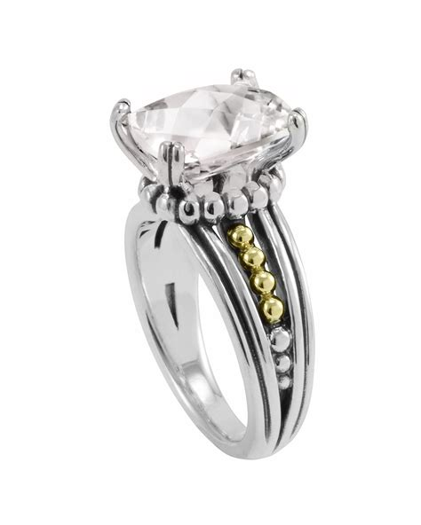 lagos white topaz prism ring in white lyst