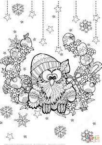 Barn Owl In French Ausmalbild Weihnachts Eule Zentangle Ausmalbilder