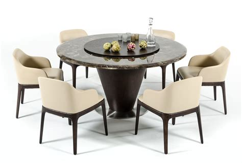 Brown Marble Dining Table Modrest Margot Modern Brown Marble Dining Table
