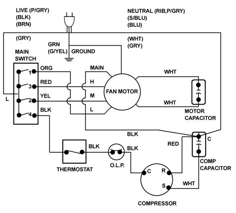 goodman run capacitor wiring diagram free free